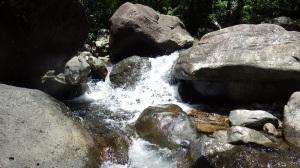 Beautiful waterfall at the river